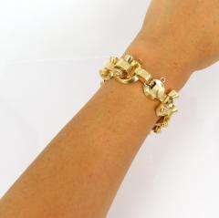 1940s 18kt gold retro bracelet - 1164864