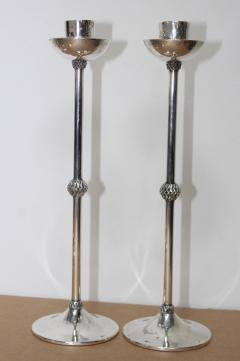 1940s Art Deco Sterling Silver Candlesticks - 1806156