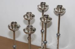 1940s Art Deco Sterling Silver Candlesticks - 1806158