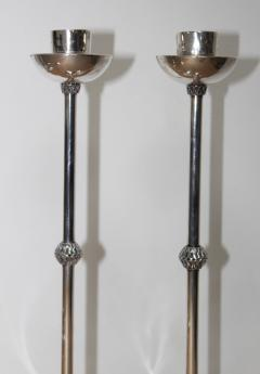 1940s Art Deco Sterling Silver Candlesticks - 1806160