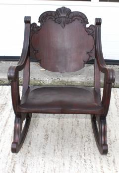 1940s Carved Mahogany Rocking Chair - 1067094