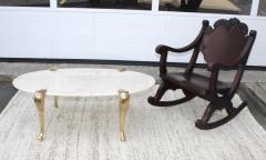 1940s Carved Mahogany Rocking Chair - 1067095