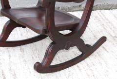 1940s Carved Mahogany Rocking Chair - 1067097