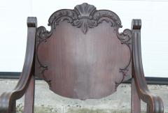 1940s Carved Mahogany Rocking Chair - 1067098