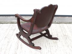 1940s Carved Mahogany Rocking Chair - 1067099