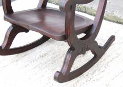 1940s Carved Mahogany Rocking Chair - 1067101
