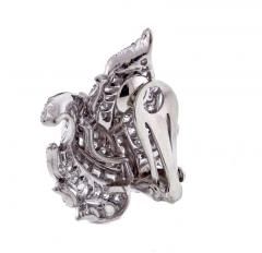 1940s Diamond Leaf Earrings - 1018208