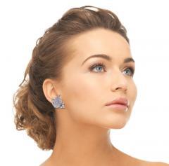 1940s Diamond Leaf Earrings - 1018209