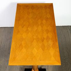 1940s French Art Deco Sycamore Black Lacquer Giltwood Cocktail Table - 1950223