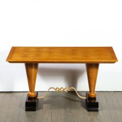 1940s French Art Deco Sycamore Black Lacquer Giltwood Cocktail Table - 1950224