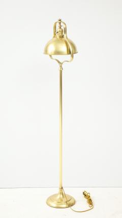 1940s French Brass Floor Lamp - 1866747