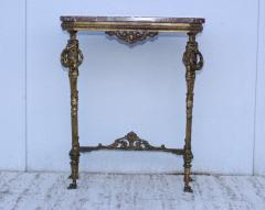 1940s French Bronze And Marble Petite Console - 1898575