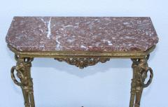 1940s French Bronze And Marble Petite Console - 1898576