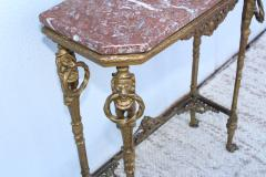 1940s French Bronze And Marble Petite Console - 1898578