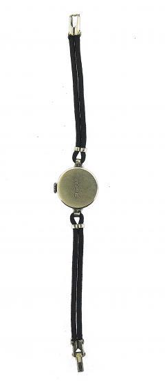 1940s French Cut Diamond Fabric Cord Platinum Watch - 201188