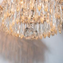 1940s Hollywood Regency Cut Beveled Crystal Chandelier with Silvered Fittings - 1461303