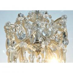 1940s Italian Antique Baroque Revival Crystal 12 Light Gilded Chandelier - 1571141