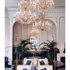 1940s Italian Antique Baroque Revival Crystal 12 Light Gilded Chandelier - 1571143