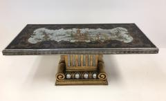 1940s Italian Chinoiserie Mirrored Top Coffee Table - 423310