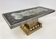 1940s Italian Chinoiserie Mirrored Top Coffee Table - 423311