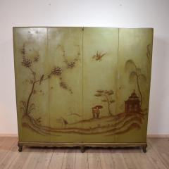 1940s Italian Four Doors Green Chinoiserie Lacquered Cupboard - 639174
