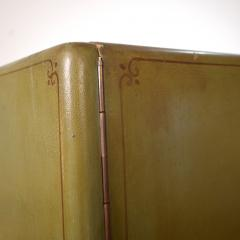 1940s Italian Four Doors Green Chinoiserie Lacquered Cupboard - 639183