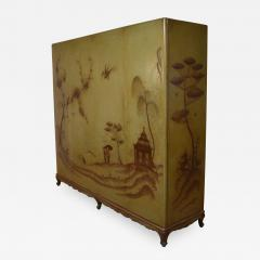 1940s Italian Four Doors Green Chinoiserie Lacquered Cupboard - 641811