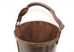 1940s Leather Waste Basket From Spain - 1689413