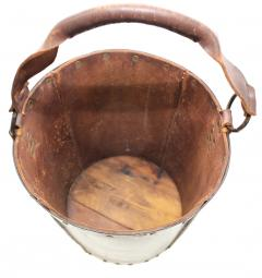 1940s Leather Waste Basket From Spain - 1689417