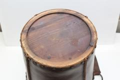 1940s Leather Waste Basket From Spain - 1689421
