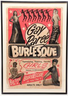1940s Striptease Gay Paree burlesque framed poster - 1000967