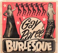 1940s Striptease Gay Paree burlesque framed poster - 1000968