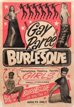 1940s Striptease Gay Paree burlesque framed poster - 1001479