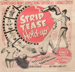 1940s Striptease HOLD UP burlesque poster  - 1000970