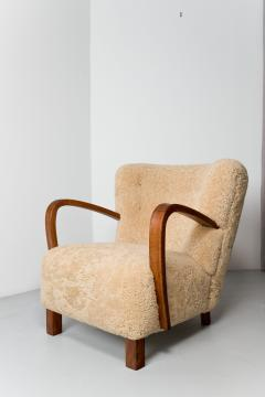 1940s Swedish Lounge Chair in Shearling - 1879096