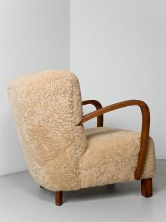 1940s Swedish Lounge Chair in Shearling - 1879098