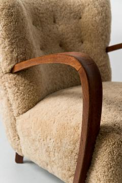 1940s Swedish Lounge Chair in Shearling - 1879101