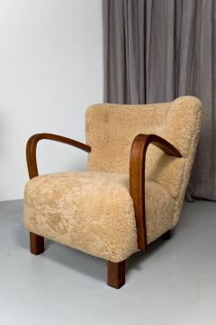 1940s Swedish Lounge Chair in Shearling - 1879106