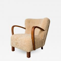 1940s Swedish Lounge Chair in Shearling - 1880498