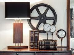 1940s Wood and Brass Lamps - 1704603