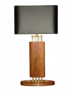 1940s Wood and Brass Lamps - 1704605
