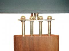 1940s Wood and Brass Lamps - 1704613