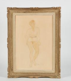 1946 Guy Charles Revol Watercolor on Paper the Artists Model - 2142248