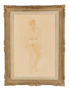 1946 Guy Charles Revol Watercolor on Paper the Artists Model - 2142252
