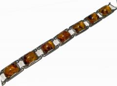 1950 s Baltic Amber and Silver Bracelet Germany C 1950 Fischland - 2015300
