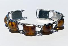 1950 s Baltic Amber and Silver Bracelet Germany C 1950 Fischland - 2015301