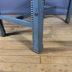 1950s American Modern Leather Clad Bench Greek Key Design - 1681371