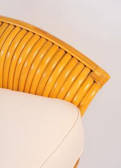 1950s American rattan sofa matching armchairs  - 734904