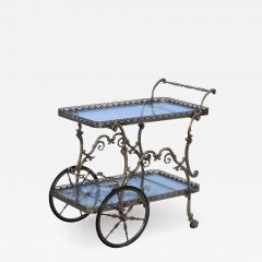 1950s Baroque Style Brass Bar Cart - 1133713