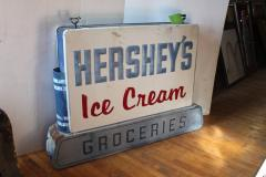 1950s Double Sided Hersheys Ice Cream Sign - 689090